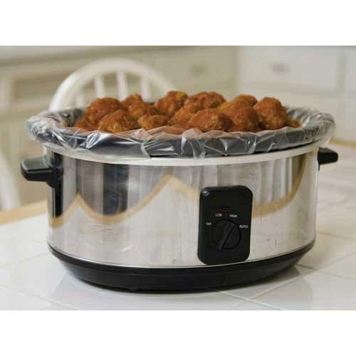 Pansaver Sure Fit Slow Cooker Liner 4 count per pack -- 12 per case