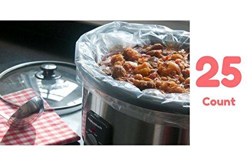 Slow Cooker Liner Bags Fits 3-6 Qt Crock Pots 25 Cooking Bags Count Multi Use