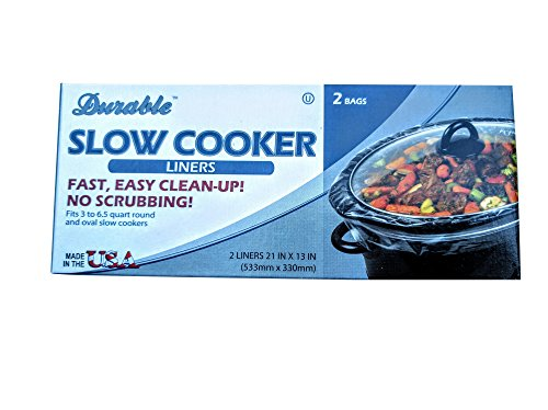 Slow Cooker Liners 2-Count Pack of 4 Disposable Fit 3 to 65 quart round and oval slow cookers