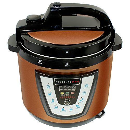 10-in-1 PressurePro 6 Qt Pressure Cooker - Multi-Use Programmable Pressure Cooker Slow Cooker Rice Cooker Steamer Sauté Yogurt Maker and Warmer - Copper