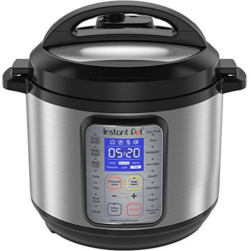 Instant Pot DUO Plus 6 Qt  9-in-1 Multi- Use Programmable Pressure Cooker Slow Cooker Rice Cooker Yogurt Maker Egg Cooker Sauté Steamer Warmer and Sterilizer