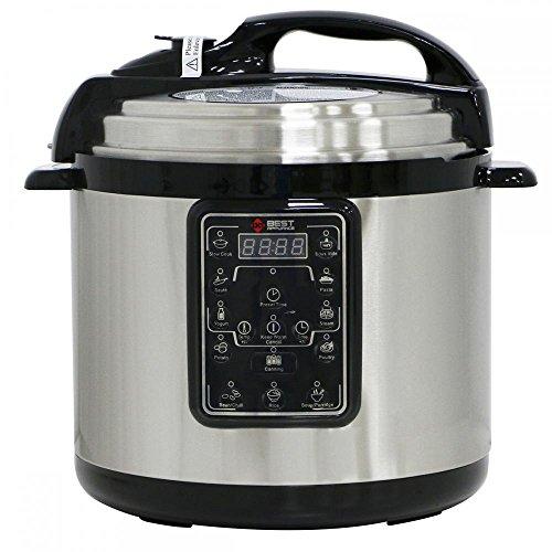 Multifunction 63QT Electric Pressure Cooker Slow Cooker Rice Cooker Steamer Yogurt Maker Stainless Steel