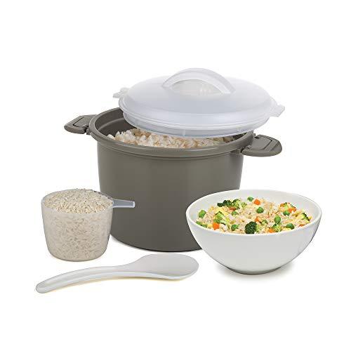 Progressive International PS-96GY Set Microwave Rice Cooker 4 Piece Gray