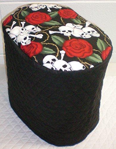 Skulls Roses Food Processor Cover Small Black