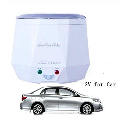 Mini 13L16L Travel Rice Cooker For Car 3 Cups Stainless Steel Rice Cooker For Rice Soup Noodles VegetableHeating 13L 12V White