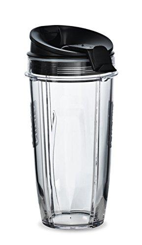 Nutri Ninja 24-Ounce BPA-Free Tritan Cup with Spout Lid for Nutri Ninja Blenders XSK2424 2-Pack