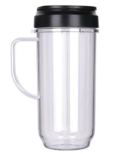 QT Replacement Part Flip Top Lid  22oz Tall cup For 250w Magic Bullet Mugs Cups Blender