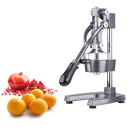 CO-Z Commercial Grade Citrus Juicer Hand Press Manual Fruit Juicer Juice Squeezer Citrus Orange Lemon Pomegranate Gray