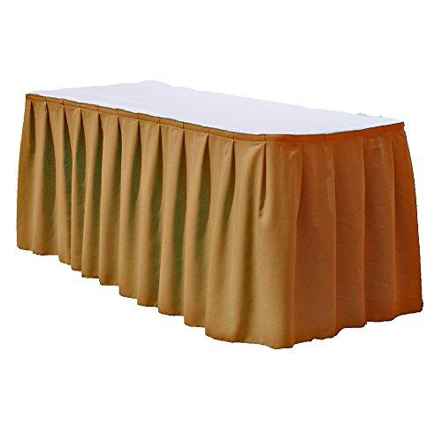 Polyester Table Skirt 14 Feet MUSTARD By Runner Linens Factory