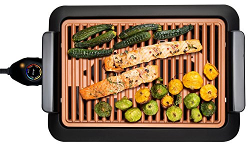 GOTHAM STEEL Smokeless Electric Grill Portable and Nonstick As Seen On TV Deluxe