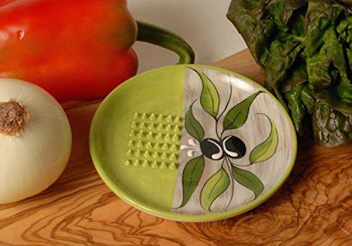 Ceramic Garlic Grater Green Cleverbrand
