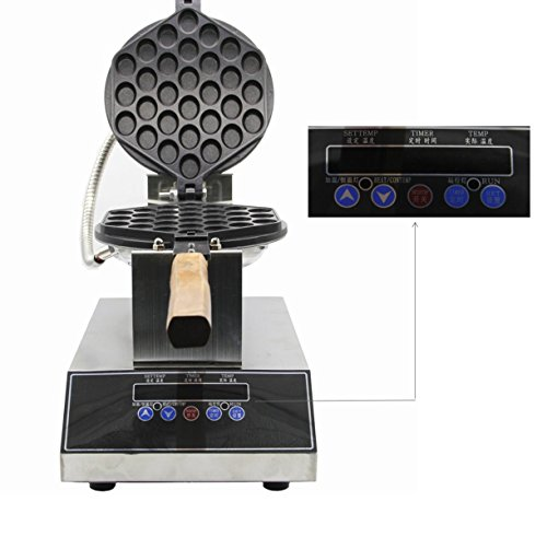Newtry Commercial Microcomputer Digital Eggettes Bubble Waffle Maker Pan Waffle Grill Egg Puff Machine 220V