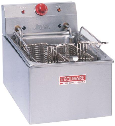 Grindmaster-Cecilware EL250 Countertop Medium Duty Simple Plug Higher Voltage Electric Fryers 15-Pound