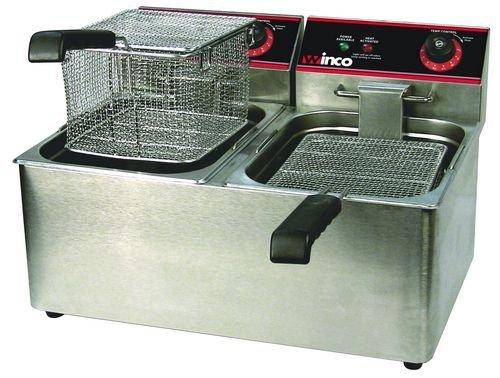 Winco EFT-32 Deep Fryer electric countertop double well