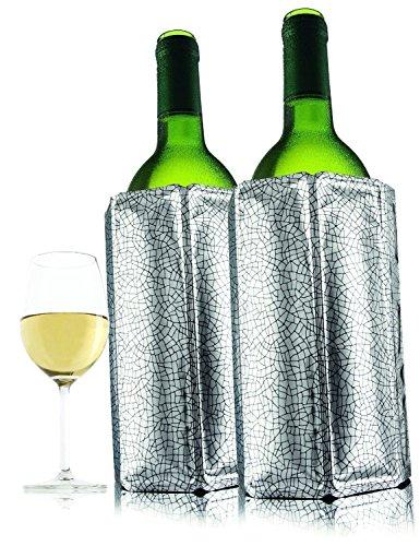 Original Vacu Vin Rapid Silver Ice Instant Wine Chiller Wine Bottle Cooler