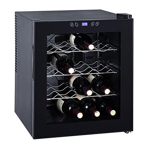 SMETA Thermoelectric Wine Cooler Refrigerator Cabinet Counter Top Mini Beer Cellar16 BottlesBlack17 Cu Ft