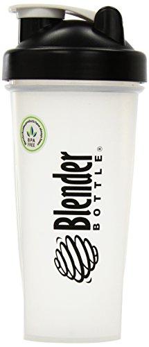 Blender Bottle Protein Shaker with BlenderBall Portable Mixer 28oz Shaker Bottle Set of 2 Black