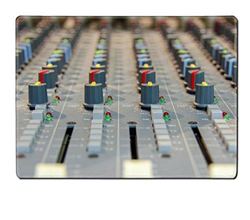Liili Placemat Natural Rubber Material closeup shot of audio mixer in recording studio 28498185