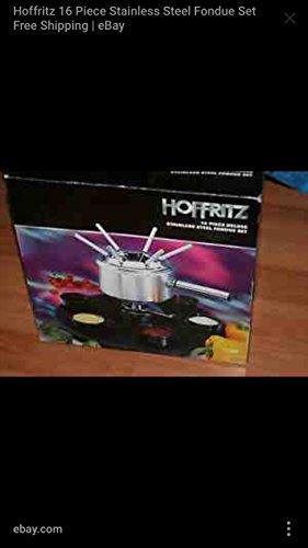 hoffritz 16 piece deluxe stainless steel fondue set