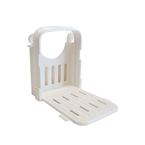 Arifoo Bread Slicer Adjustable Home Bread Slicer White Bagel Slicers for Home Use
