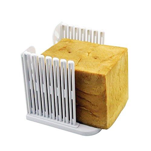 DaWa Bread Slicer Resin Foldable and Adjustable Bread Toast Slicer Bagel Slicer Loaf Sandwich Bread Slicer Toast Slice Cutter Mold White