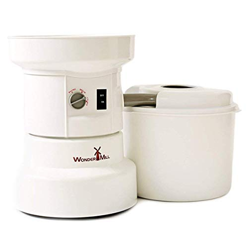 Powerful Electric Grain Mill Wheat Grinder for Home and Professional Use - High Speed Grain Grinder Flour Mill for Healthy Grains and Gluten-Free Flours - Electric Grain Mill by WondermillWhite