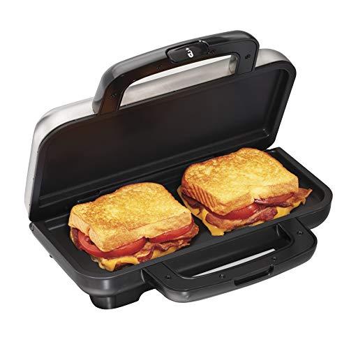 Proctor Silex Deluxe Hot Sandwich Maker Nonstick Plates Stainless Steel 25415