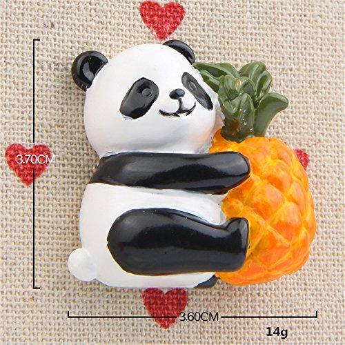 GTNINE Cute Panda Pineapple Magnets Funny Fridge Magnet Refrigerator Magnets for Home Fridge Decor Office Desk Decor Car Decor