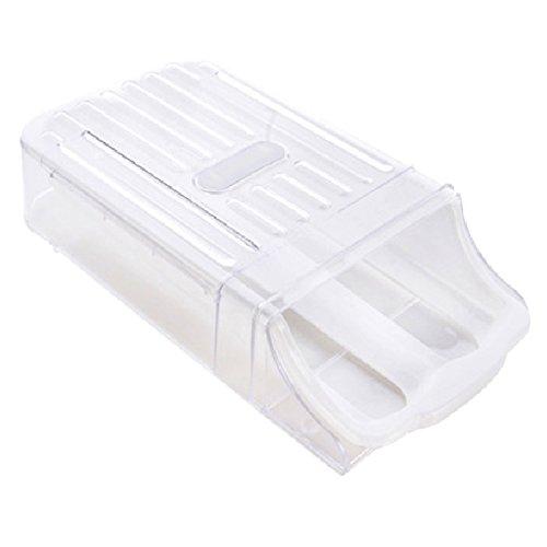 Gosear Kitchen Home Refrigerator Drawer Type Egg Storage Box Shelf Organizer Container Holder White