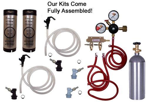 Cornelius Homebrew Kegerator Kit Dual Keg Basic Kit with 5CO2 and Kegs