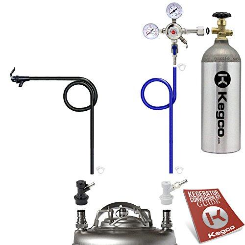 Kegco SHPCK-BALL5T One Keg Homebrew Party Kegerator Kit Ball Lock Keg with Tank