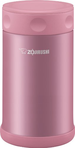 Zojirushi Stainless Steel Food Jar 25 oz  075 Liter Shiny Pink