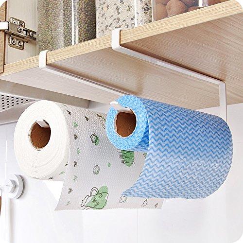 Vivian Kitchen Paper Hanger Rack Under Cabinet Shelf Tissue Roll Towel Holder Hanging Rack 2 PCS