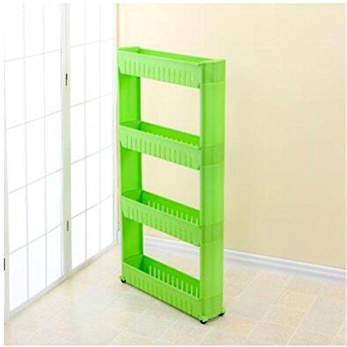 Multipurpose Multi-layer Movable Shelf Unit Storage Baskets Shelving refrigerator side Storage Rack Kitchen holder Organizer pack of 2  3