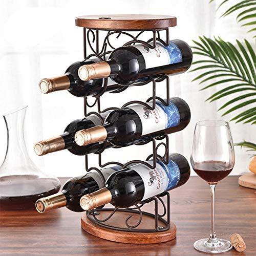 Decorative Wine Holder Contemporary Decorative Curved Metal Countertop Standing Wine Racks