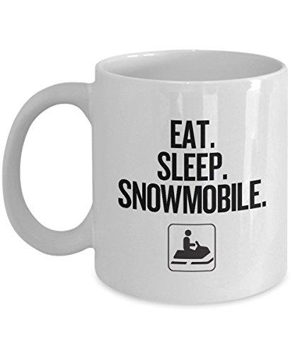 Snowmobiling Gift Idea - Eat Sleep Snowmobile - Sledding Coffee Mug