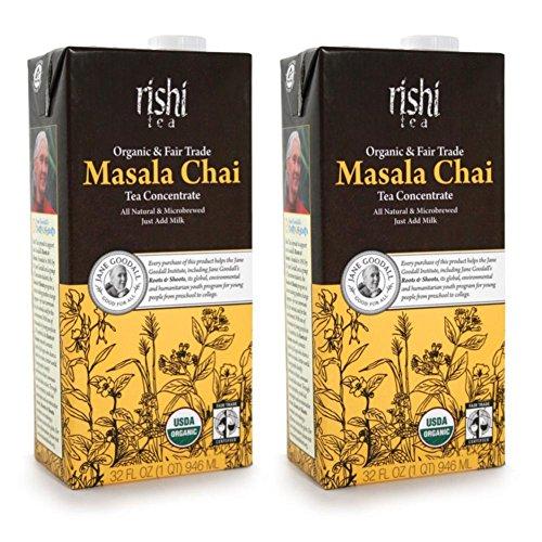Rishi Tea Organic Concentrate Masala Chai Tea - 32 oz Pack of 2