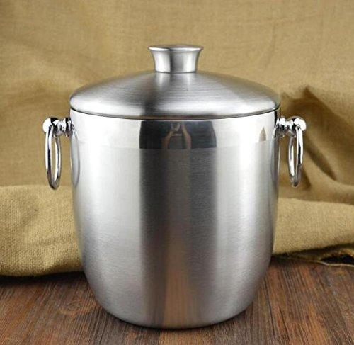 3L Double-decked ice bucket wine cooler ice barrel stainless steel ice bucket