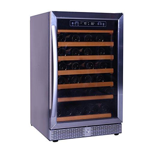 Smad 46 Bottle Single Zone Compressor Wine Cooler Freestanding Wine CellarStainless Steel