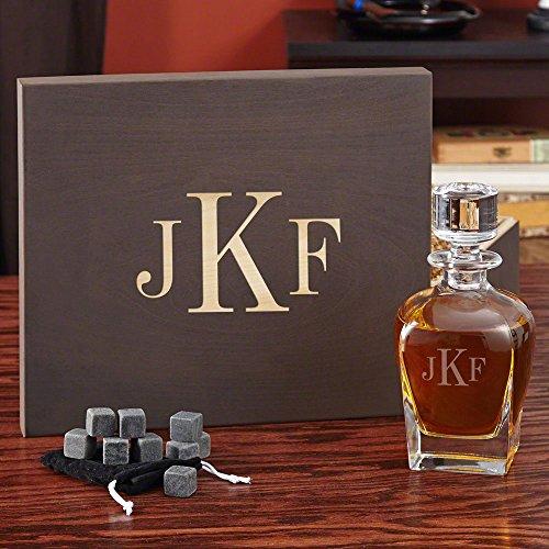 Personalized Decanter Gift Set with Custom Keepsake Box Customizable Product