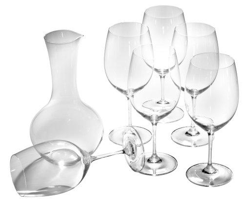 Riedel Vinum Bordeaux Set of 6 Plus 1 Bonus Decanter Gift Set
