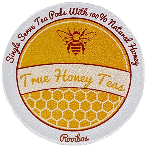 Honey Infused African Rooibos Single Serve Herbal Tea for Keurig K-Cup Brewers Box of 22