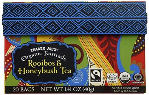 Trader Joes Organic Fairtrade African Rooibos Honeybush Red Tea 20 Bags Herbal