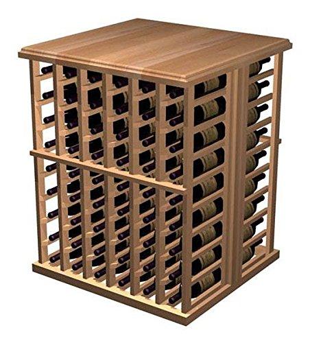 Designer 108-Bottle Tasting Table Prime Mahogany - Midnight Black Stain