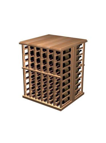 Designer Series Wine Rack - 108 Bottle Tasting Table - Rustic Pine