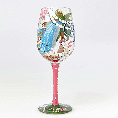 Enesco Lolita Wine Glass Carolina Girl