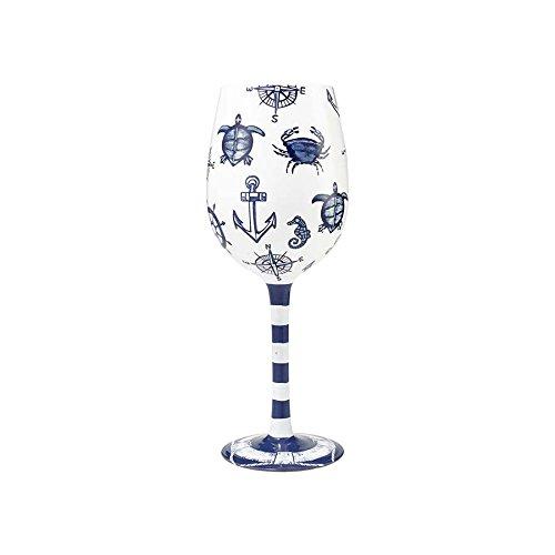 Enesco Lolita Wine Glass Set Sail
