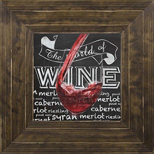 7x7 Wine Glass 1 by Gibbons Lauren Ponderosa Saddle GL-SQ-106B