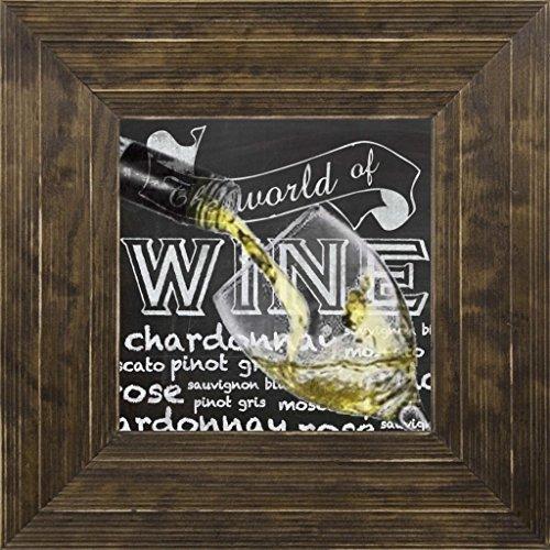 7x7 Wine Glass 2 by Gibbons Lauren Ponderosa Saddle GL-SQ-106A