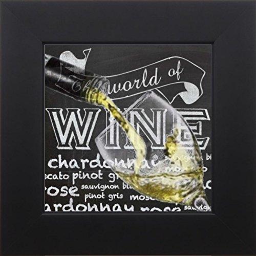 7x7 Wine Glass 2 by Gibbons Lauren Studio Black GL-SQ-106A